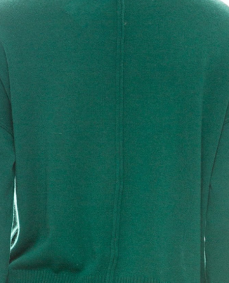 Autumn Cashmere Boxy Side Snap Crew - Astroturf