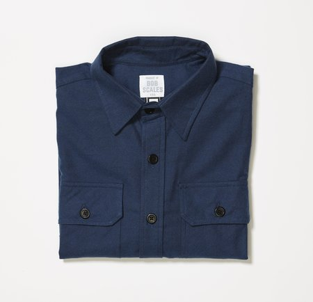 Product of Bob Scales FLANNEL WORK SHIRT - STEEL BLUE