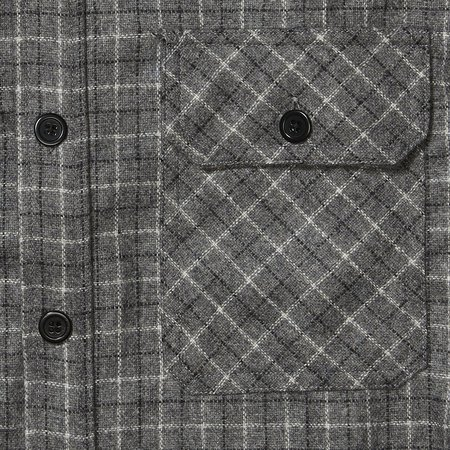 Product of Bob Scales WOOL WORK SHIRT - GREY PLAID