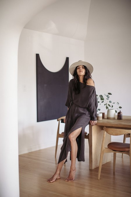 Ozma Tactile Raw Silk Gillian Dress
