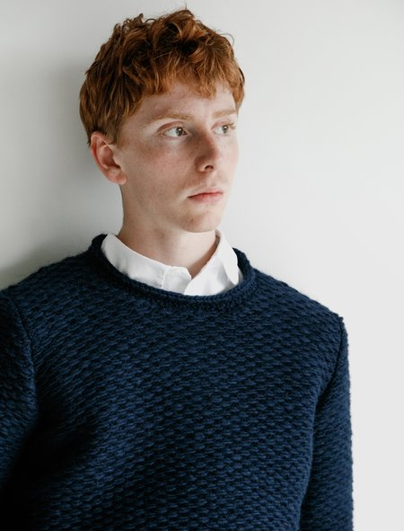 Frank Leder Knitted Wool Pullover - Blue