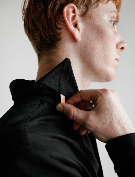 Frank Leder Wool Shirt with Copper Detail