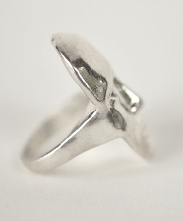 Open House - Face Ring With Black Diamonds