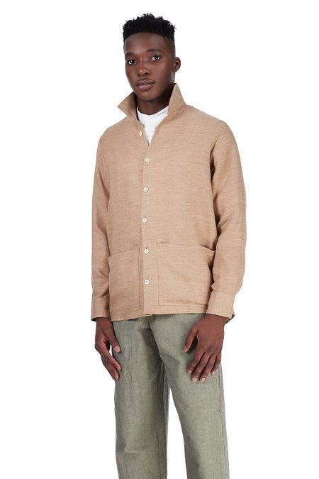 Unisex Blluemade Jacket Wool-Linen Shirt - Khaki