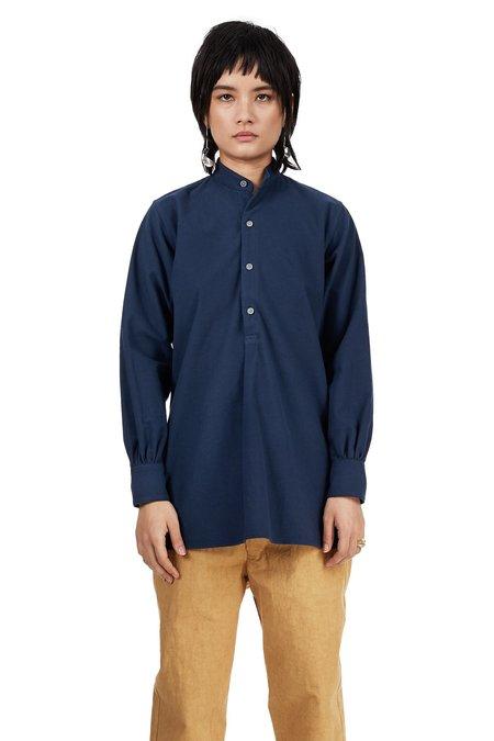 Unisex Blluemade Monk Pullover - Blue Cotton Flannel