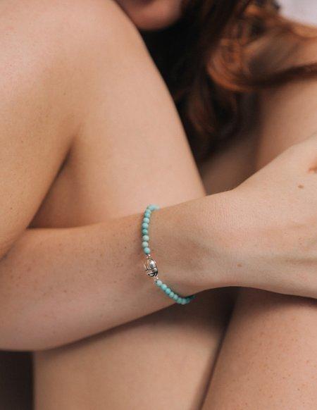 Pamela Love Beaded Scarab Bracelet - Turquoise