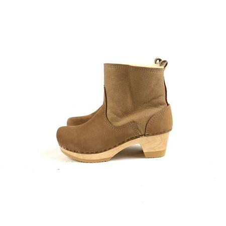 No.6 Pull-on Shearling Clog Boot on Mid-Heel