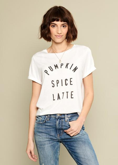 South Parade Pumpkin Spice Latte Tee - White