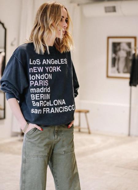 Anine Bing City Love Sweatshirt - Black