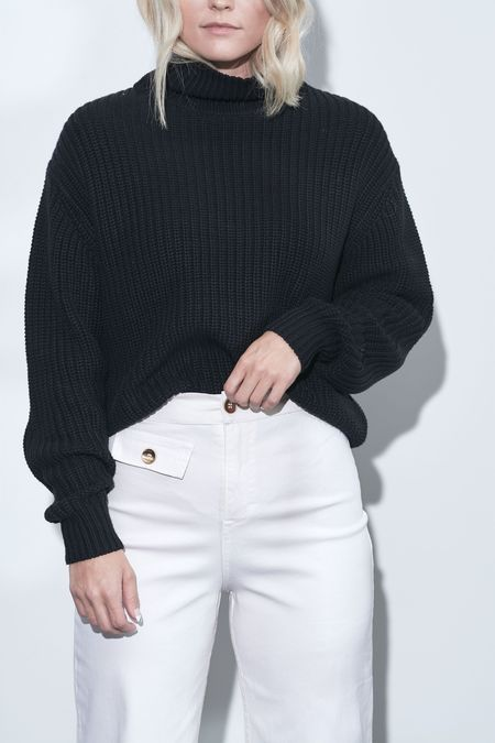 French Connection Millie Turtleneck Sweater - Black
