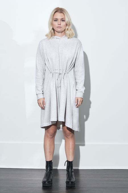 French Connection Santino Hoodie Dress - Dove Grey