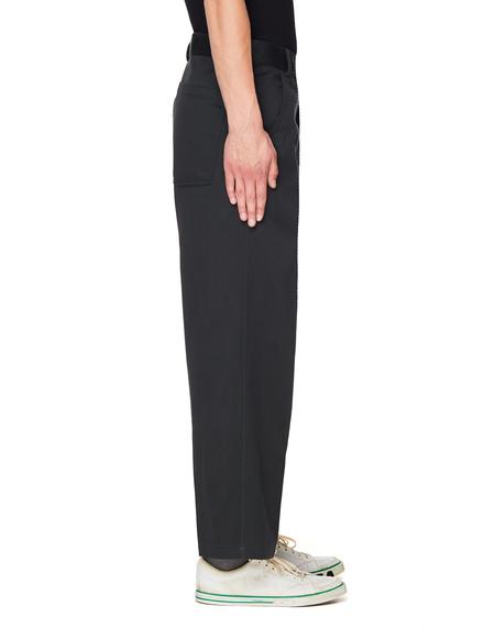 Haider Ackermann Wide Leg Cotton & Linen Trousers - Grey