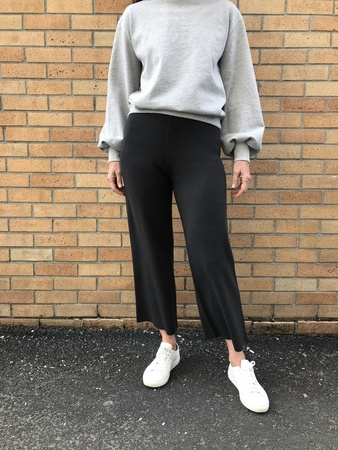 Nice Things Knit Culottes - Black
