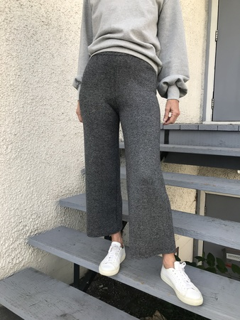 Nice Things Knit Trousers - Gray