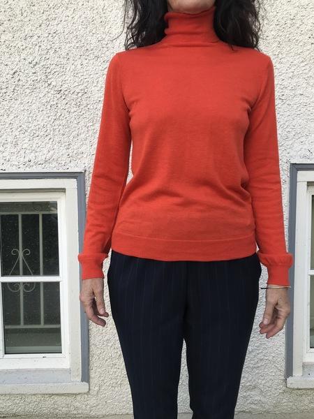 Nice Things Knit Turtleneck - Orange