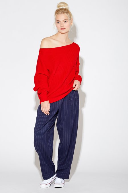 Callahan Freja Off The Shoulder Top - Spicy Red