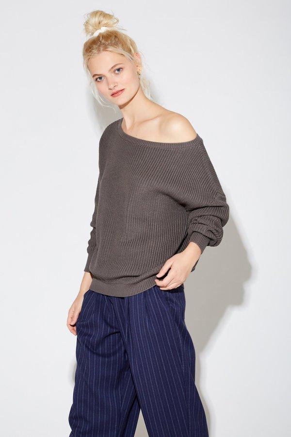 Callahan Jonna Off The Shoulder Top - Charcoal Grey