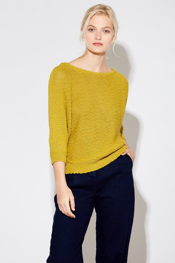 Callahan Bow Back Sweater - Olive