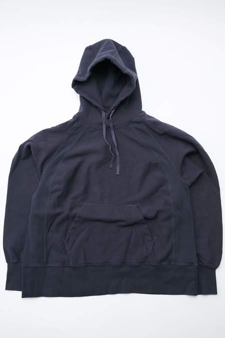 Engineered Garments Cotton Fleece Raglan Hoody - Navy