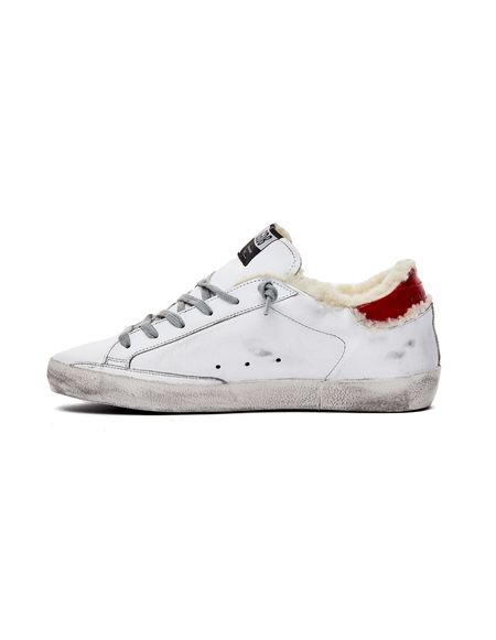 GOLDEN GOOSE DELUXE BRAND Shearling Sneakers - White/Leopard Star