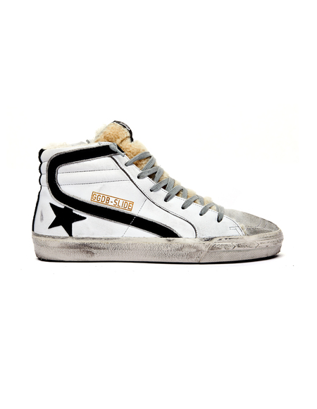 GOLDEN GOOSE DELUXE BRAND Hi-Top Shearling Sneakers - White