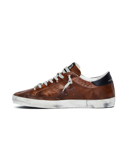 GOLDEN GOOSE DELUXE BRAND Leather Superstar Sneakers - Brown