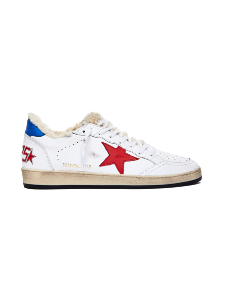 GOLDEN GOOSE DELUXE BRAND Ball Star Shearling Sneakers - White