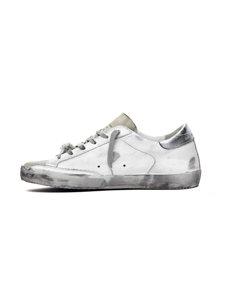GOLDEN GOOSE DELUXE BRAND Golden Goose Printed Sole Superstar Sneakers - White