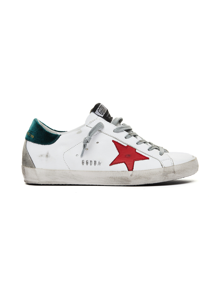 GOLDEN GOOSE DELUXE BRAND Superstar Sneakers - White/Red Star