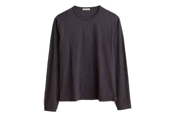 Alex Mill Standard Slub LS Cotton Tee - Iron Grey