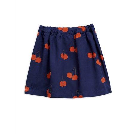 Kids Mini Rodini Cherry Woven Skirt - Navy Blue