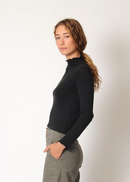 Micaela Greg Extrafine Turtleneck - Black