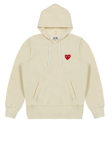 Comme des Garçons Play Hooded Sweatshirt - Ivory