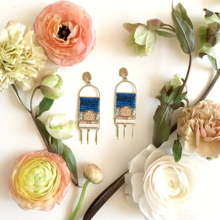Alchemilla Skyscape Earrings - Blue Magic Colorstory