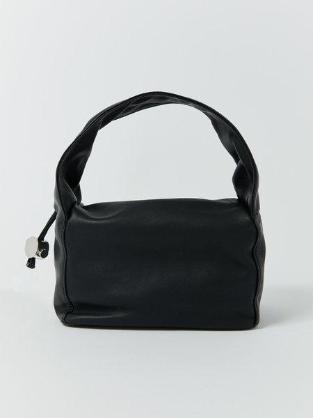 KARA Leather Baby Cloud Bag - Black