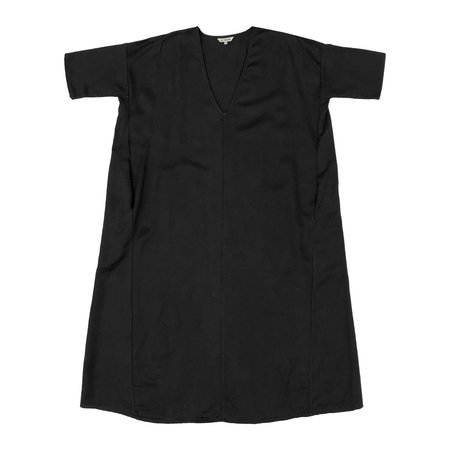 Ali Golden KIMONO DRESS W/ POCKETS - BLACK