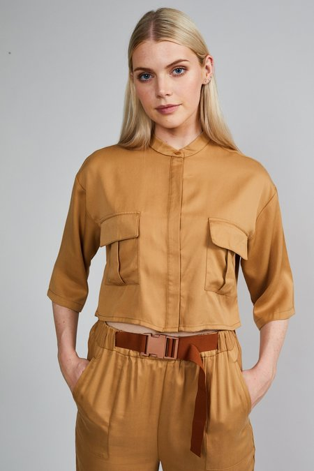 Native Youth THE EVE BLOUSE - CAMEL