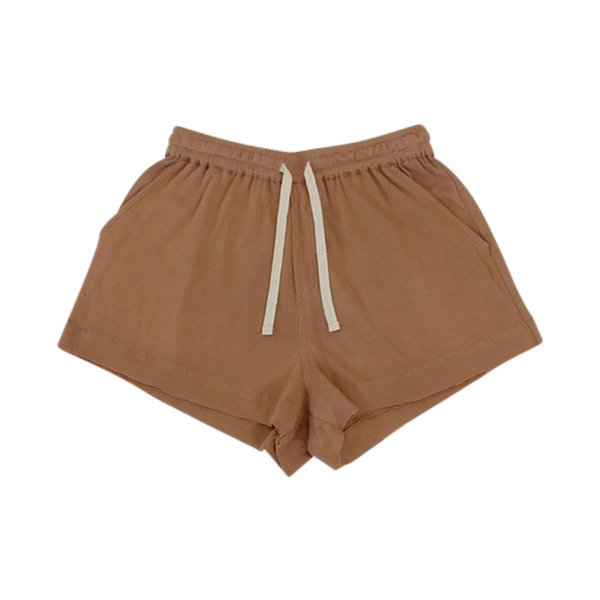 KIDS Feather Drum DOUBLE HEM SHORTS - MOCHA