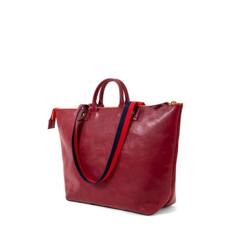 Clare V. Le Zip Sac - Oxblood
