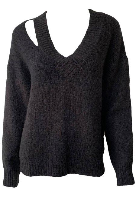 Line Maris Cutout Sweater - Caviar