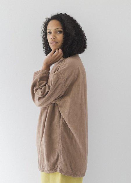Black Crane Loose Pullover - Camel