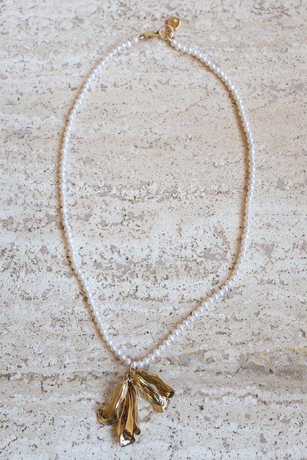 Leigh Miller Azalea Pearl Choker Necklace - Gold