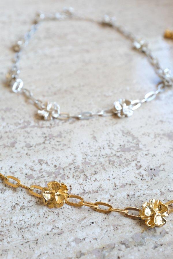 Leigh Miller Poppy Chain Choker Necklace - Gold