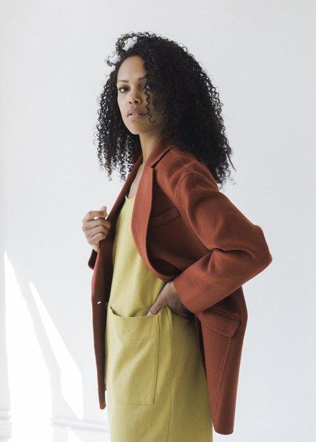 Line Knitwear Elodie Coat - Saffron
