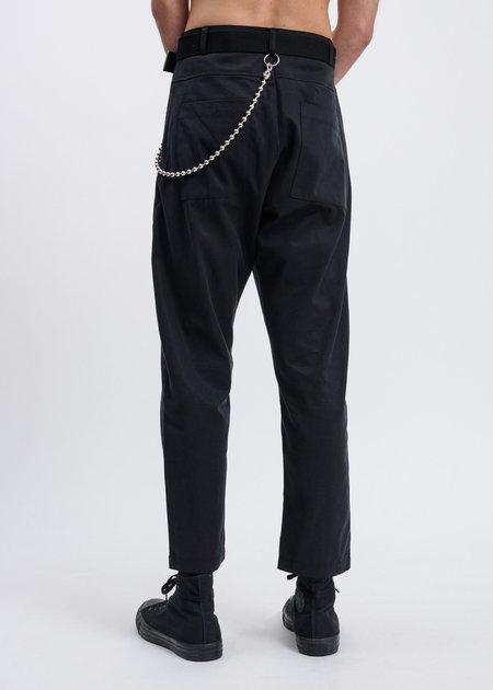017 x CARSON CARTIER Tencel Linen Twill Pants - Black