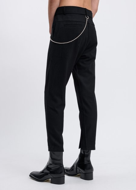 017 x CARSON CARTIER Wool Blend Pants - Black