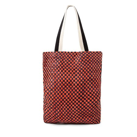 Clare V. Carryall - Navy Red Check