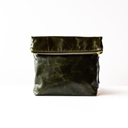 Veinage Bordeaux Medium Leather Clutch Bag