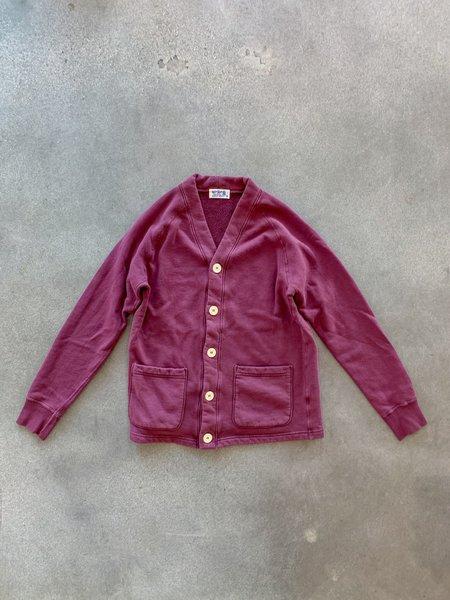 Velva Sheen Pigment Dyed Cardigan - Burgundy