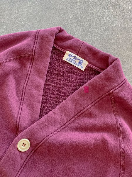 Velva Sheen Pigment Dyed Cardigan - Burgundy